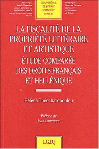 La fiscalité de la propriété littéraire et ...