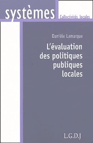 9782275022192: L'évaluation des politiques publiques locales (French Edition)