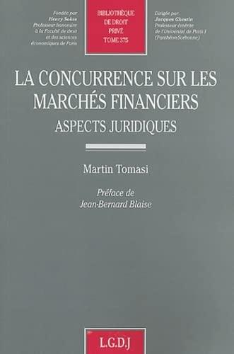 La concurrence sur les marchés financiers: Tomasi