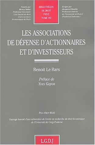Les associations de défenses d'actionnaires et d'investisseurs (French ...