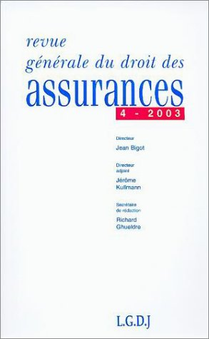 revue generale droit assurances 4 2003