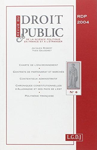 revue du droit public 6-2004