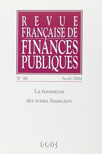 revue francaise de finances publiques t.86