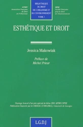 Esthà tique et droit (French Edition): LGDJ