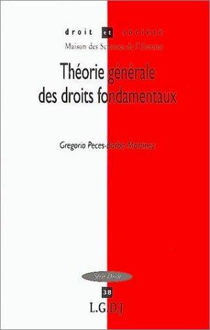 9782275024714: Théorie générale des droits fondamentaux (French Edition)