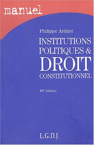 9782275025117: Institutions politiques et droit constitutionnel