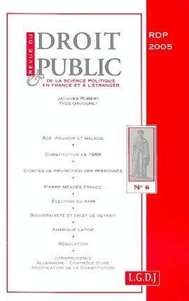 revue du droit public n 6-2005: Jacques Robert