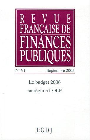 Revue française de finances publiques, N° 91,: Michel Bouvier et