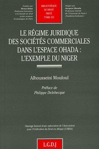 9782275026060: Le régime juridique des sociétés commerciales dans l'espace OHADA : l'exemple du Niger