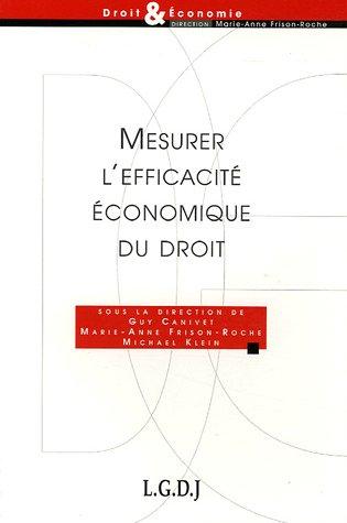 9782275027043: Mesurer l'efficacité économique du droit