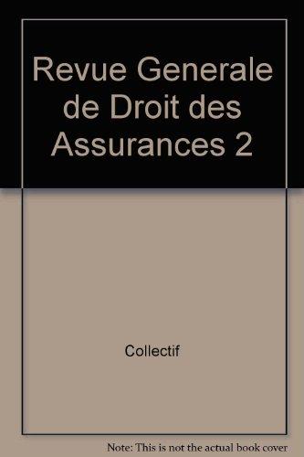 revue générale de droit des assurances t.2