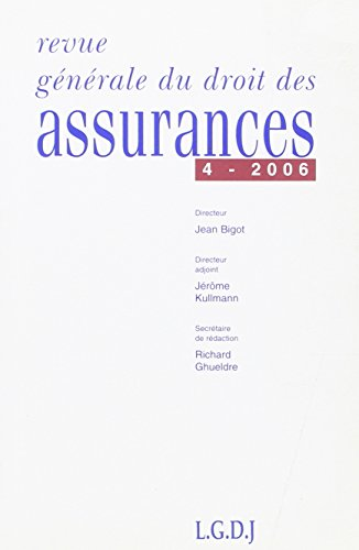 revue générale de droit des assurances t.4