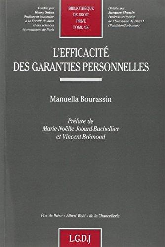 L'efficacité des garanties personnelles (French Edition): Manuella Bourassin