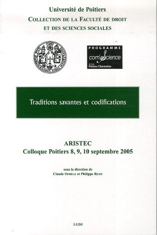 Traditions savantes et codifications (French Edition): Collectif
