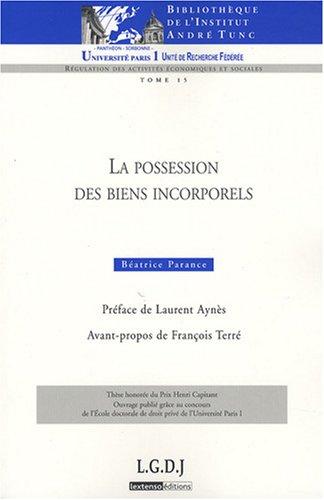 9782275028026: La possession des biens incorporels