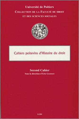 cahiers de l'histoire du droit: Eric Gojosso