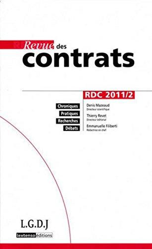 revue des contrats t.2: Collectif