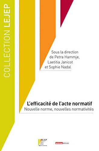 9782275028729: L'efficacité de l'acte normatif