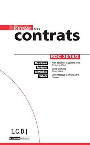 Rdc - revue des contrats n 2-2013: Dimitrijevic Marija