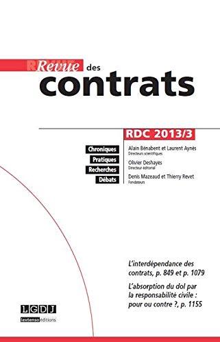 9782275028750: Revue des contrats RDC N�3-2013