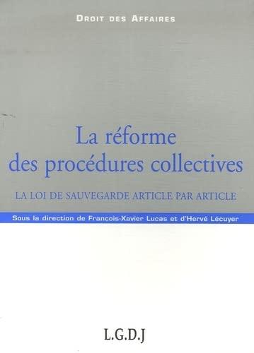 la réforme des procédures collectives: Hervé Lécuyer