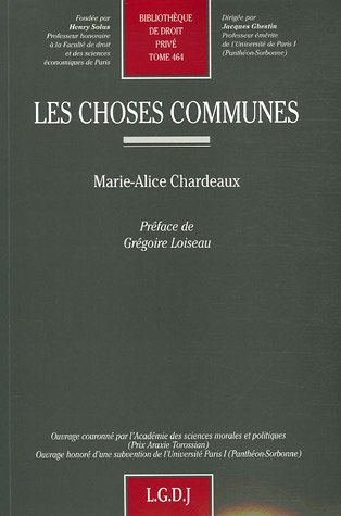 9782275030500: les choses communes