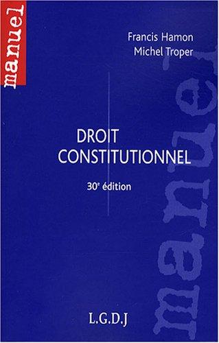 9782275031354: Droit constitutionnel