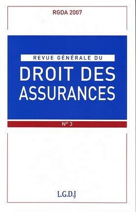 revue générale du droit des assurances