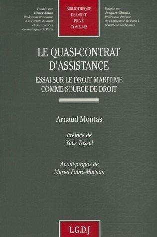 9782275032207: Le quasi-contrat d'assistance : Essai sur le droit maritime comme source de droit