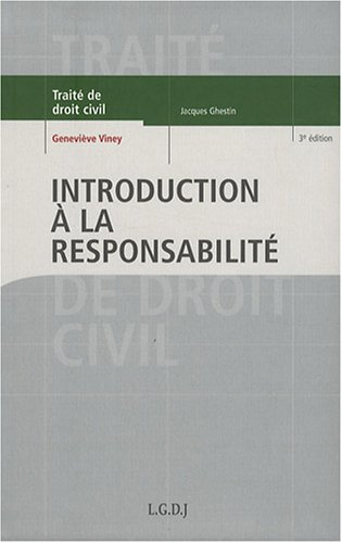 9782275032474: Introduction à la responsabilité