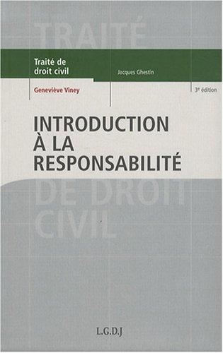 9782275032474: Introduction à la responsabilité (French Edition)