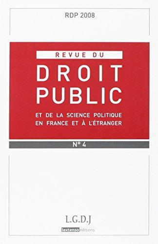 revue de droit public rdp n 4 2008