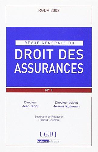 revue generale de droit des assurances t.1