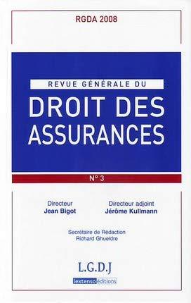 revue generale du droit des assurances t.3