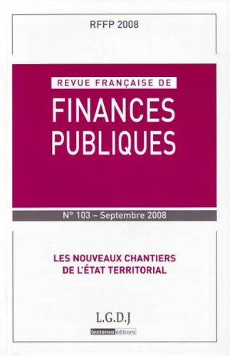 revue française de finances publiques t.103