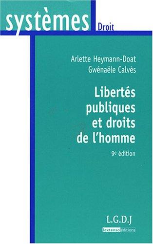 9782275033341: Libertés publiques et droits de l'homme (French Edition)