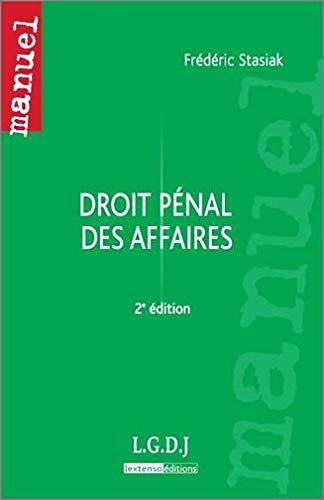 Droit pénal des affaires (French Edition): Frédéric Stasiak