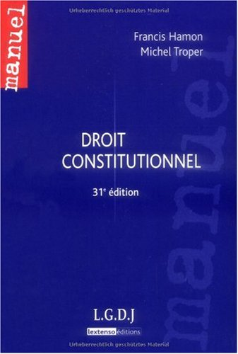 9782275033952: Droit constitutionnel (French Edition)