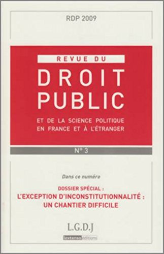 """de la science politique en France et à l'étranger ; l'exception d&#..."