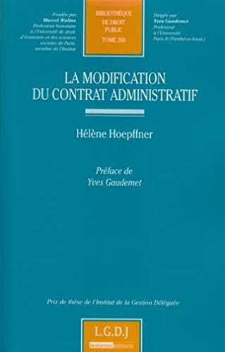 9782275034348: La modification du contrat administratif (French Edition)