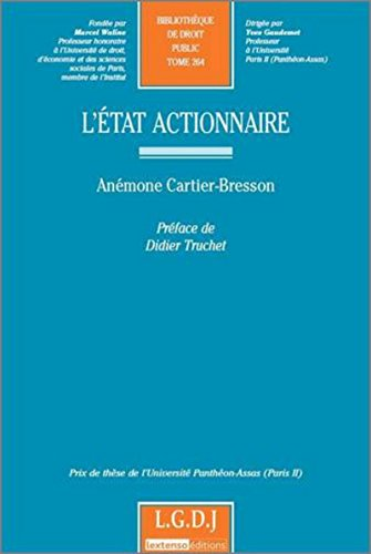 L'état actionnaire (French Edition): Anémone Cartier-Bresson