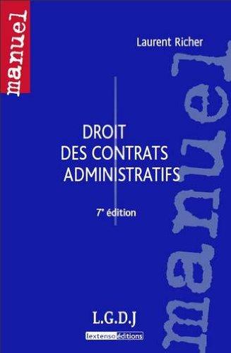9782275034799: Droit des contrats administratifs (French Edition)