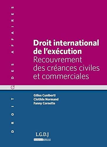 droit international de l'exécution: Fanny Cornette