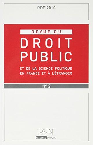 Revue du Droit Public N 2 2010: Collectif
