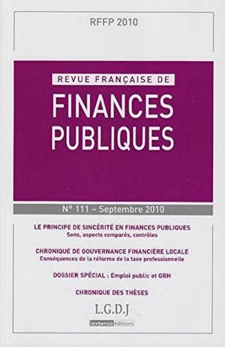 le principe de sincérité en finances publiques: Michel Bouvier