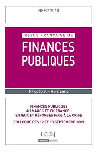 finances publiques au Maroc et en France : enjeux et réponses face à la crise: ...