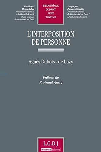 interposition de personne: Agnès Dubois de Luzy