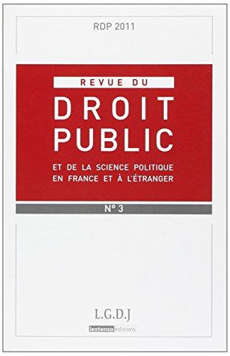 rdp-revue du droit public n 3-2011