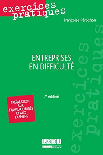 9782275037172: Exercices pratiques - Entreprises en difficulté