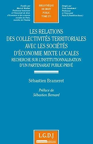 les relations des collectivités territoriales avec les sociétés d'&eacute...